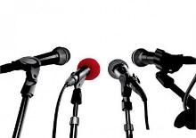Conferencia de prensa para la difusión de eventos
