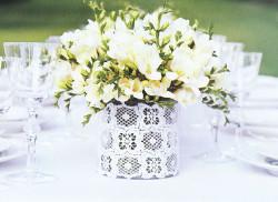 5 consejos para elegir el centro de mesa floral para tu boda