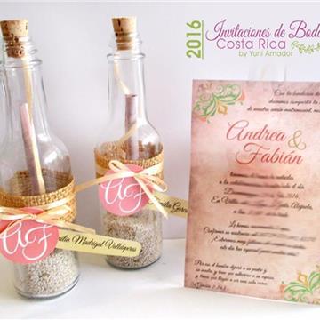 Invitaciones De Boda Cr - Invitaciones-de-boda-en-botella