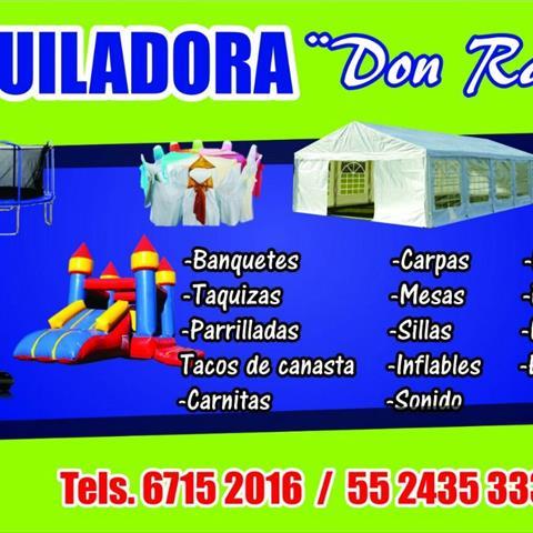 Banquetes y Alquiladora Don Rafa Castillo